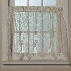 Another New Curtain Collection At Syw Includes Our Dogwood Lace Seen Here To The Left Entire Is Crafted Of A