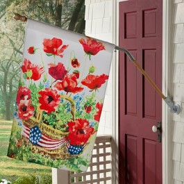 Patriotic Poppies Flag