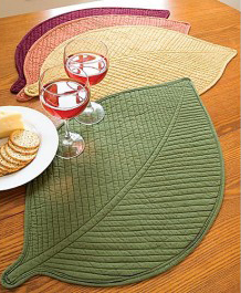 Attractive A Leafy Place Setting