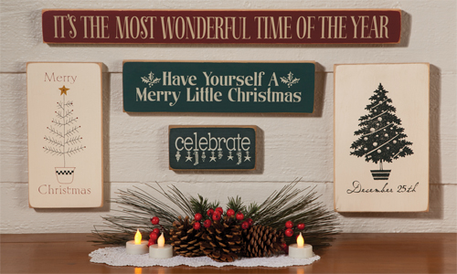 Christmas wall signs made in the usa with free shipping christmas holiday wall signs solutioingenieria Choice Image