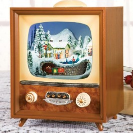 Next up is a customer favorite from last season our unique TV Music Box. Shown here to the left we find a magical scene inside the glass of the television ... & Retro Christmas Decorating Ideas all with Free Shipping | Shoptalk ...