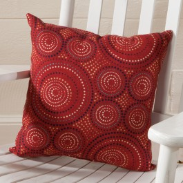 Red Pinwheel Pillow