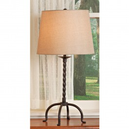 Twisted Iron Table Lamp