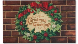 Christmas Greetings Wreath Doormat