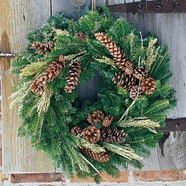 Pinecone and Millet Wreath