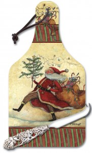 Marching Santa Cheese Board