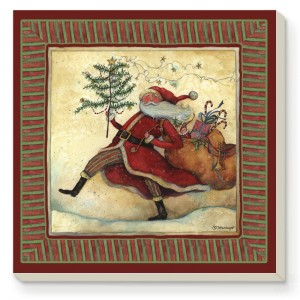 Marching Santa Coaster Set