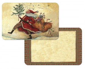 Marching Santa Reversible Placemats