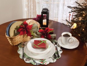 Country Stoneware, Poinsettia Napkin Rings