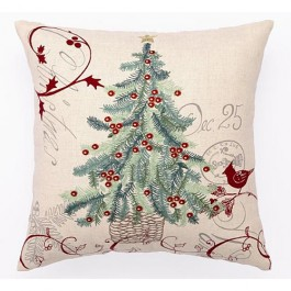 Christmas Postcard Pillow