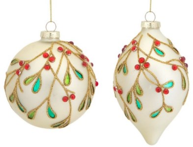 Beaded Glass Ornament Set