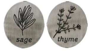 Sage and Thyme Herb Markers