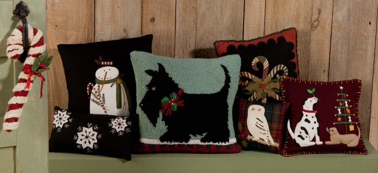 Assortment of Holiday Pillows