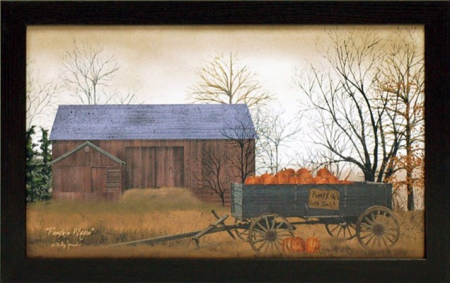 USA Made Pumpkin Wagon Framed Print