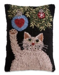 Cat With Ornament Pillow