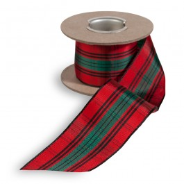 Red Tartan Plaid Ribbon