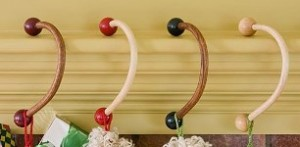 Wooden Stocking Hooks