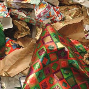 Christmas Paper Pile