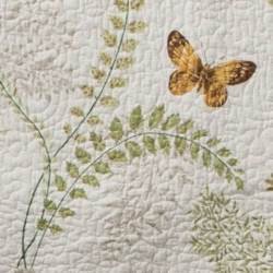 Fern Garden Quilt Close Up