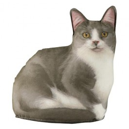 Gray and White Cat Doorstop