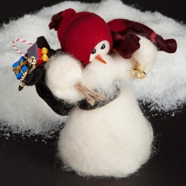 Here Comes Santa Collectible Wooly Snowman