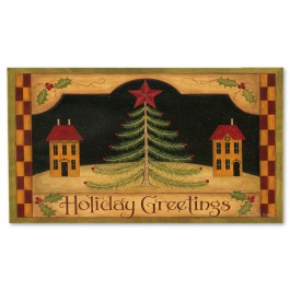 Holiday Greetings Doormat