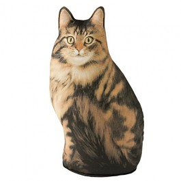 Long Haired Tabby Cat Doorstop