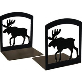 Moose Wrought Iron Bookends