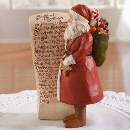 Recipe Santa Sculpture