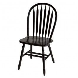 Set of Two Black Arrowback Chairs