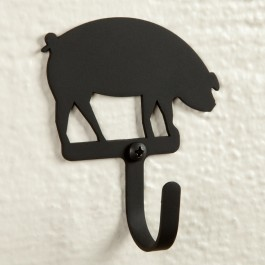 Small Wrought Iron Hook Pig