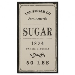 Vintage Sugar Sack Wall Panel
