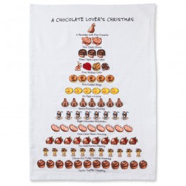 Whimsical Days of Christmas Chocolate Lover's Towel