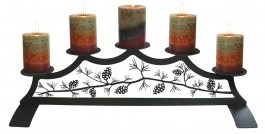 Wrought Iron Fireplace Pillar Holder