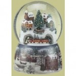 Musical Holiday Train Snow Globe