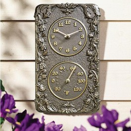 Acanthus Thermometer Clock