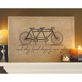 ... Bicycle Jute Wrapped Wall Art