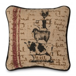 Burlap Barnyard Pillow