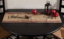 Burlap Barnyard Table Runner