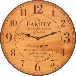 Family Roots Wall Clock