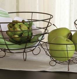 Footed Wire Bowls