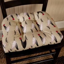 Retro Rooster Chair Pad