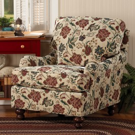Scrolled Arm Chair