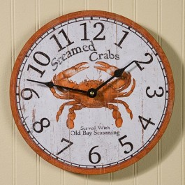 Steamed Crabs Wall Clock