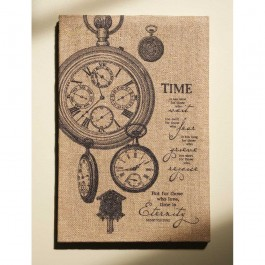 Time Jute Wrapped Wall Art