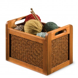 Wicker and Wood Tote