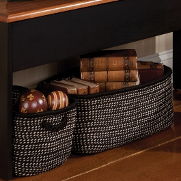 Large and Small Braided Baskets