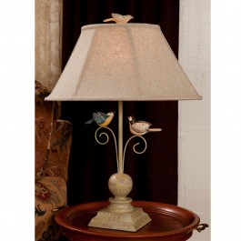 Bird Scroll Table Lamp