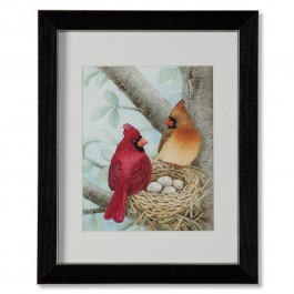 Bird Tree With Cardinals Print
