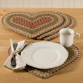Braided Heart Placemats